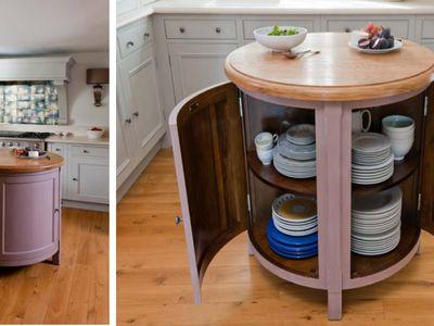 Small Circular Kitchen Island Worktable
