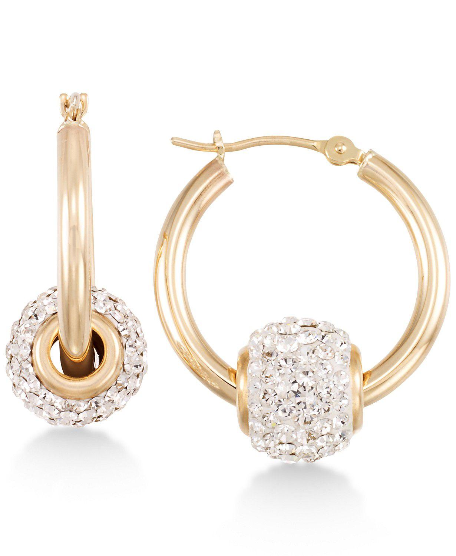 Macy's Crystal Fireball Hoop Earrings