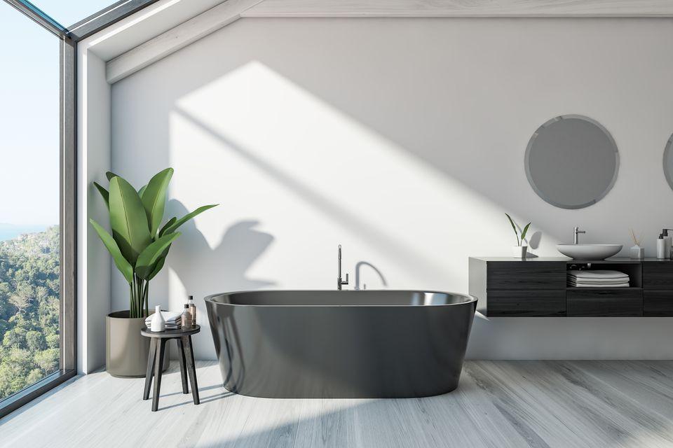 Gray Bathtub
