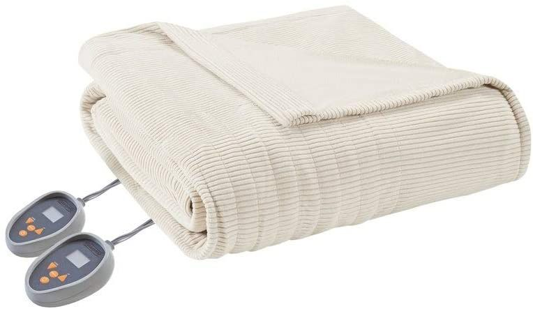 Beautyrest Ribbed Microfleece Blanket