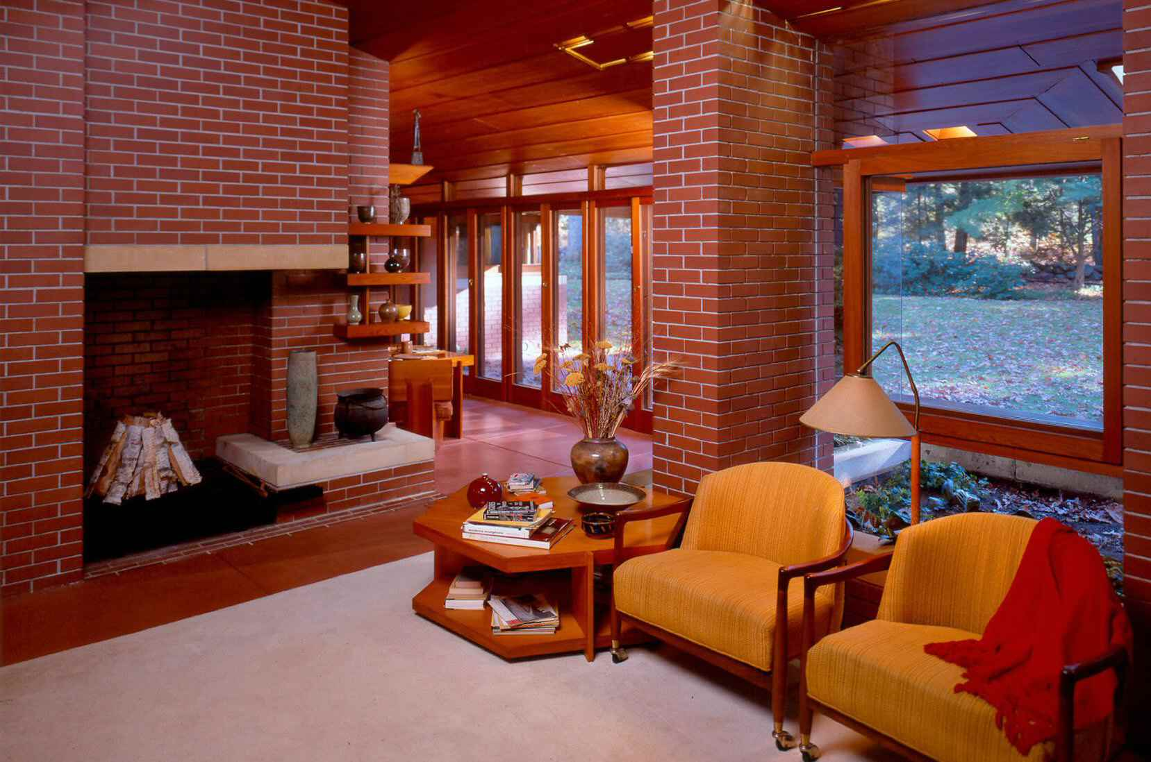 Inside the Garden Room at the Zimmerman House by Frank Lloyd Wright