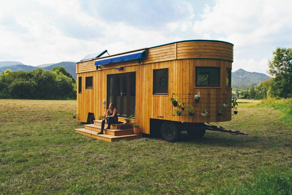 The Wohnwagon is a Self-Sufficient Mobile Dwelling on pod homes, 1000 sq ft. small homes, busses from tiny homes, tiny key west homes, 400 sq ft. small homes, tiny pueblo homes, mini custom homes,