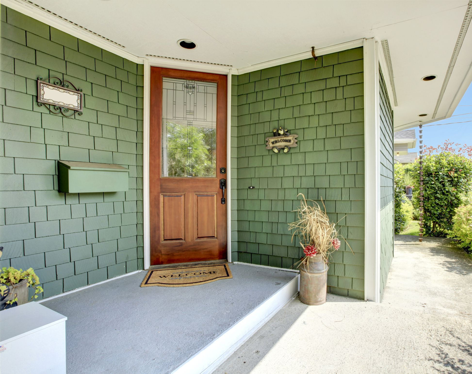 How To Use Green For Your House S Exterior