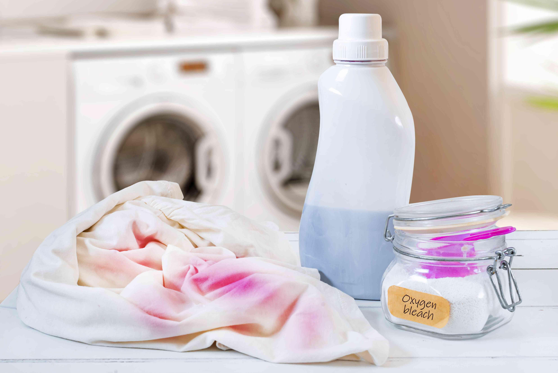 rewashing clothing with oxygen bleach
