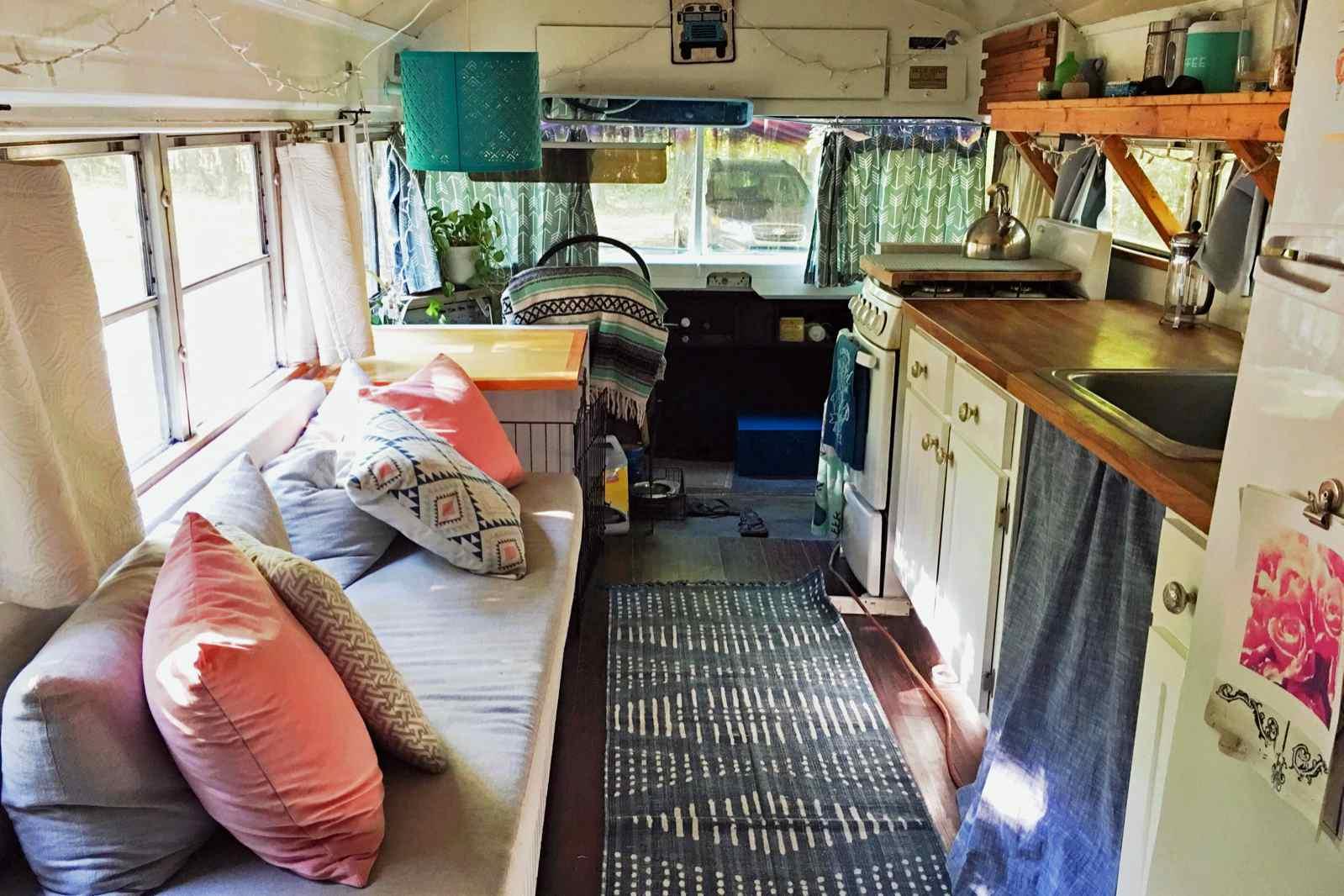 House bus kitchen