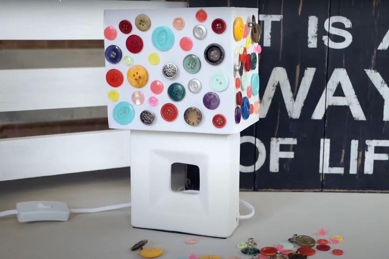 DIY button lamp shade