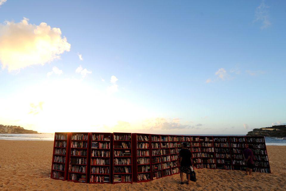Ikea's Billy Bookcase on Bondi Beach in Australia