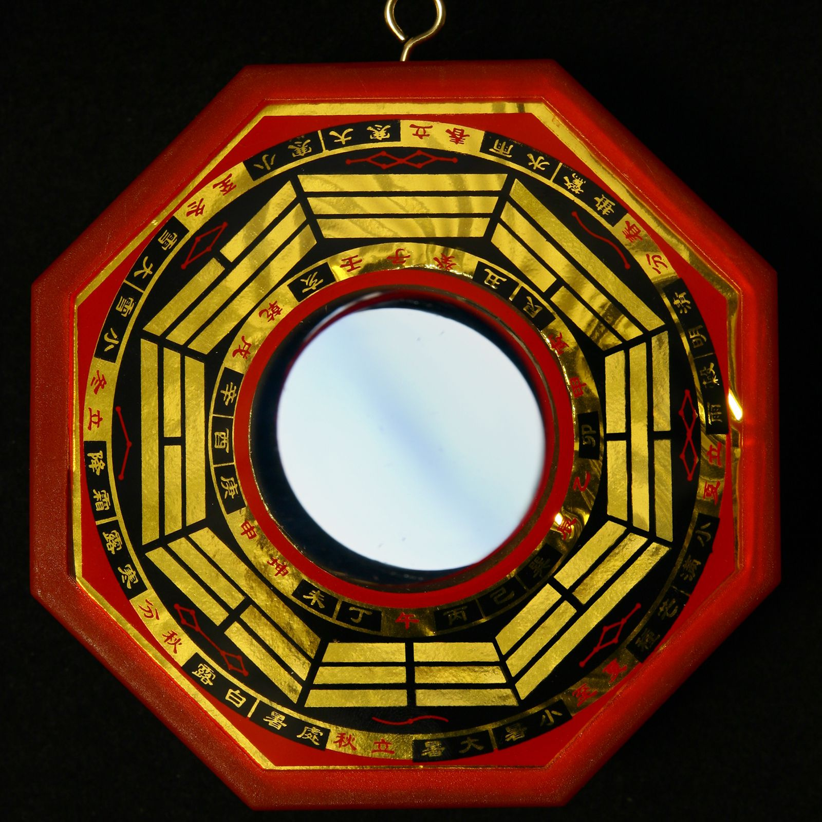 CHINESE FENG SHUI BRASS BA GUA MIRROR FOR PROTECTION OF YOUR HOUSEHOLD