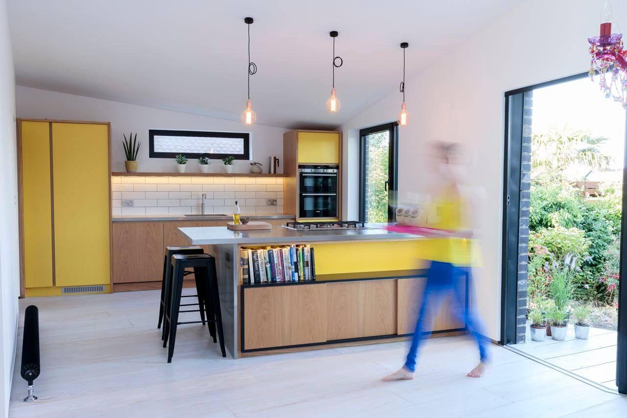 yellow scandinavian kitchen