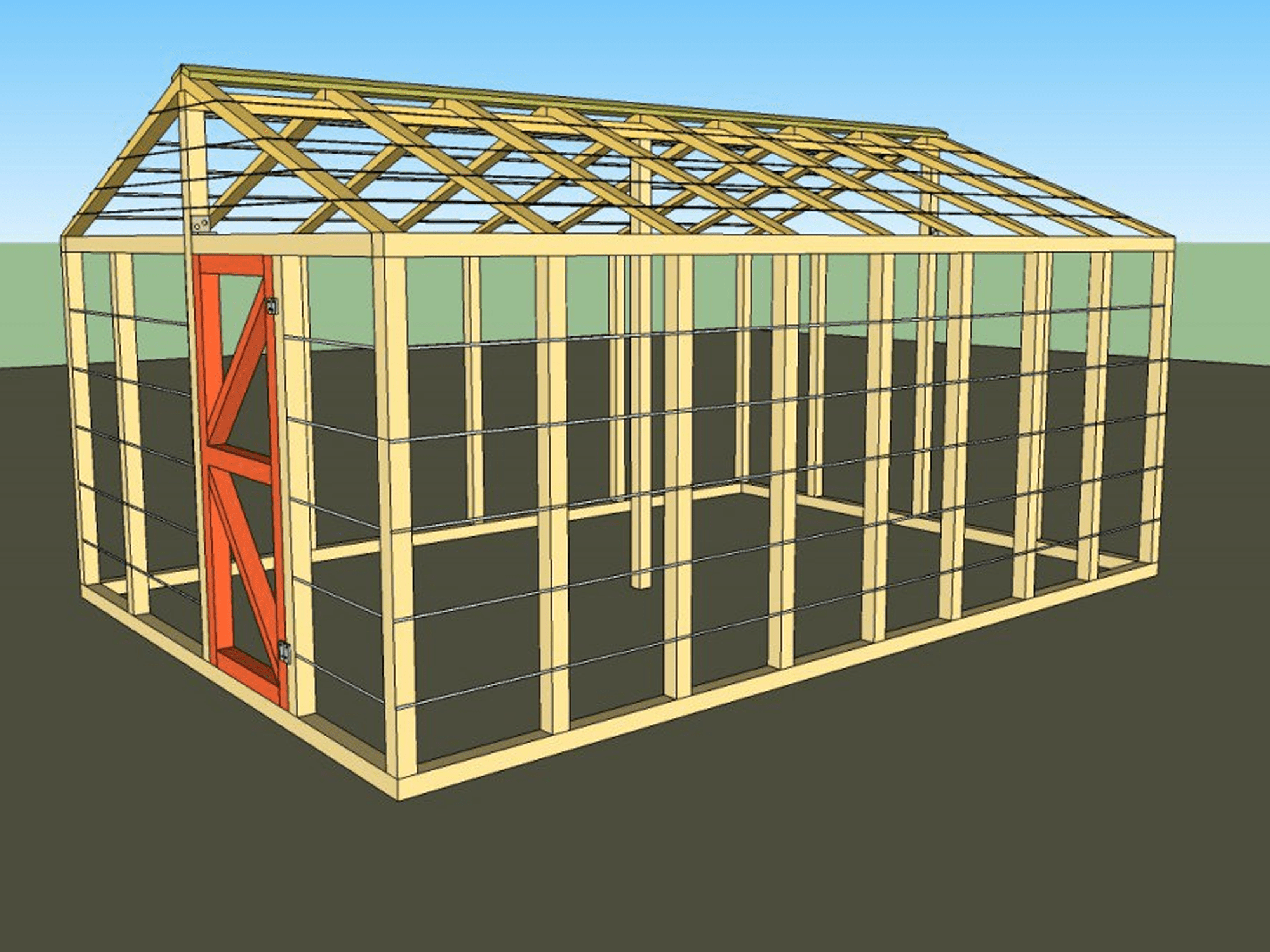 Illustration of a small greenhouse