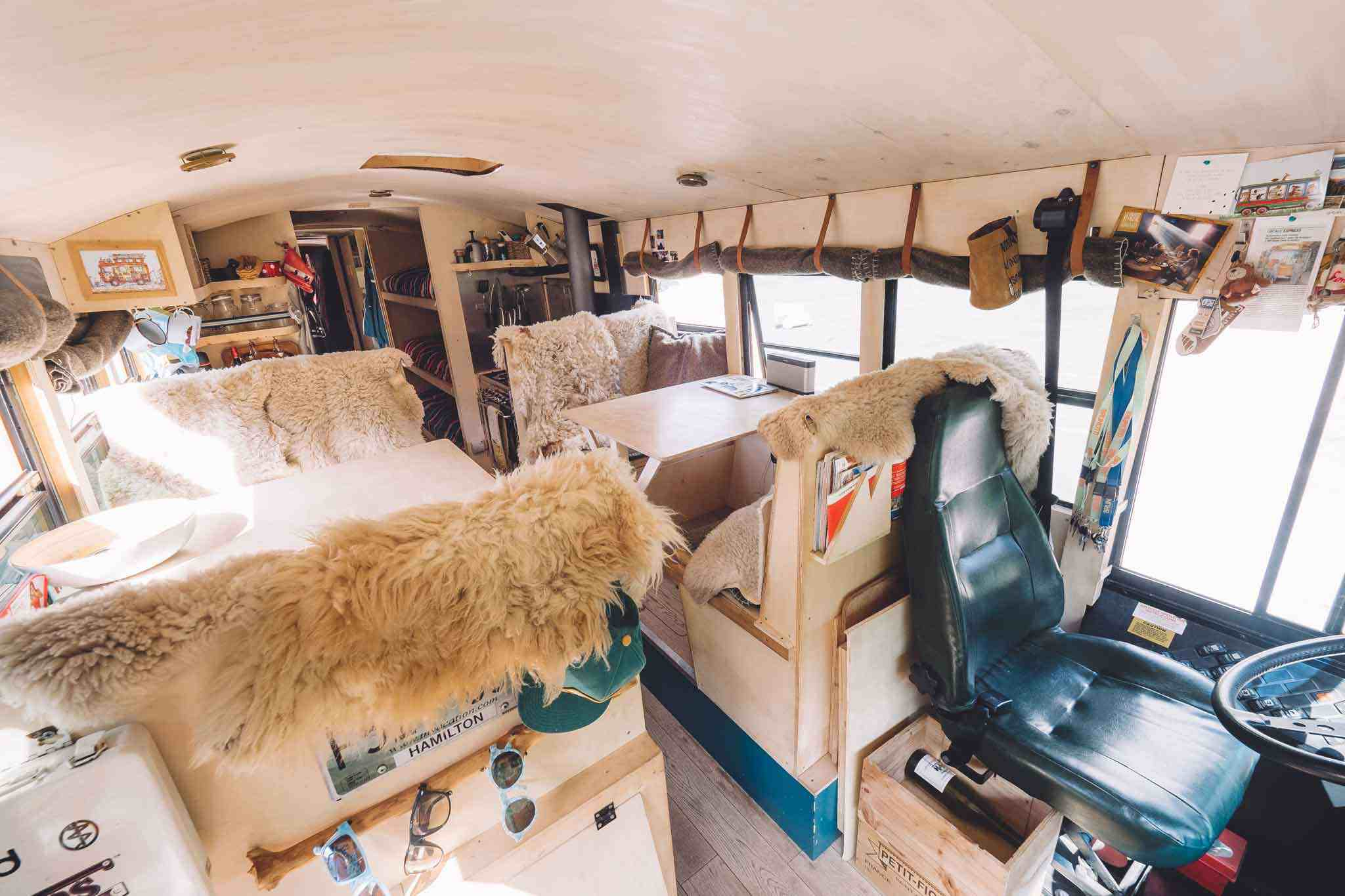 Nomad bus living/lounge