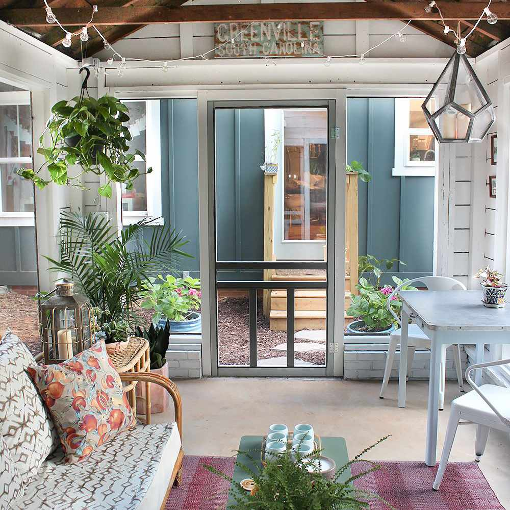 Shed turned into a screened in porch