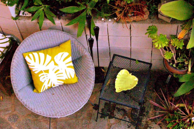 silla de mimbre vintage