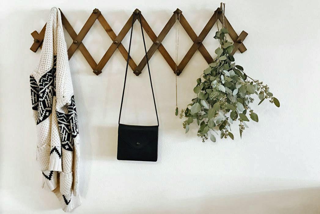 eucalyptus on a coat rack