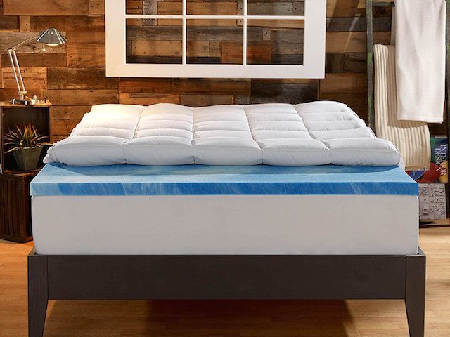 "COOL 3/"" TEXTURED SUPREME COMFORT MEMORY FOAM GEL BED MATTRESS PAD TOPPER NEW"