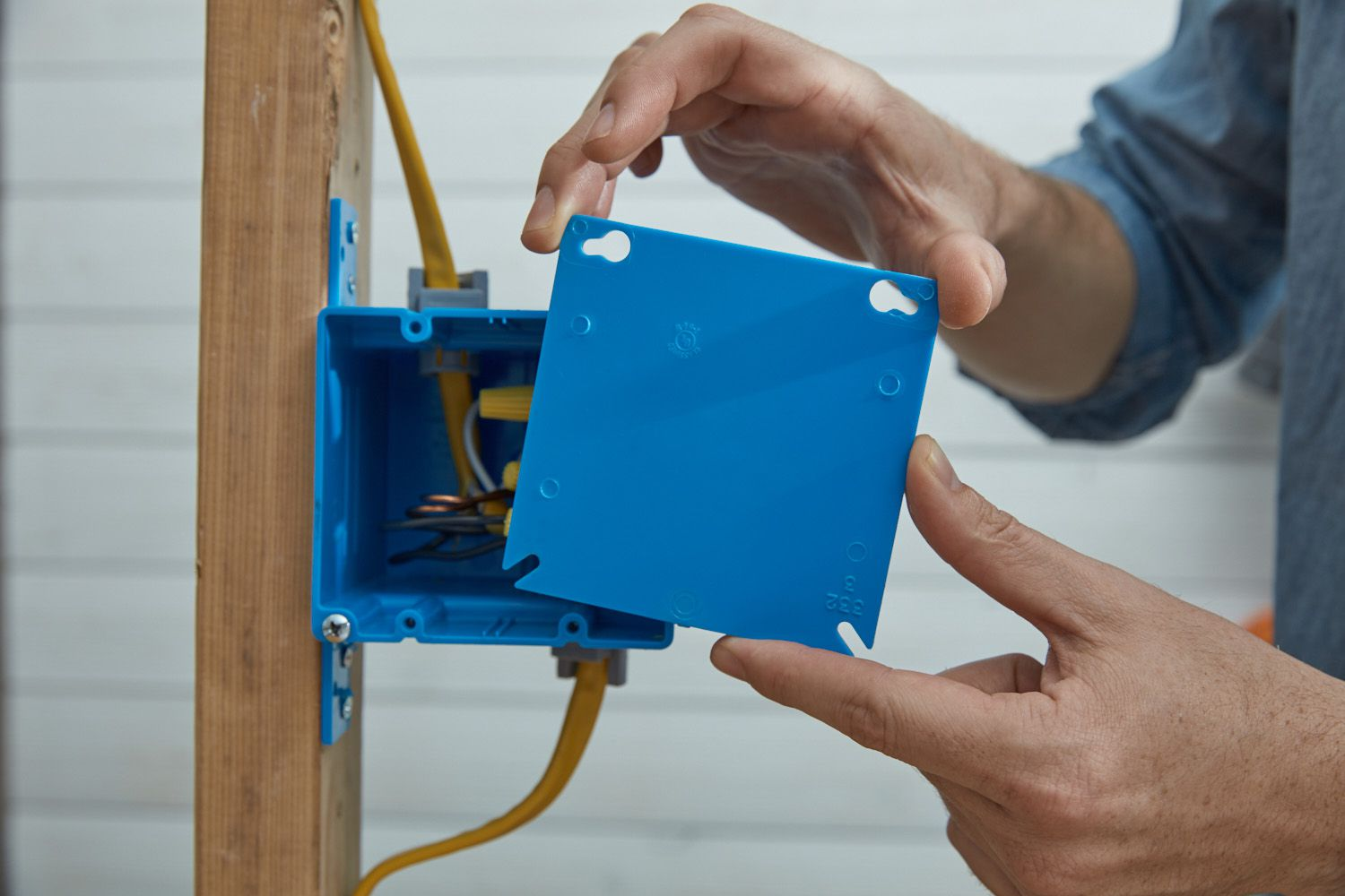 Attach junction box and cover plate