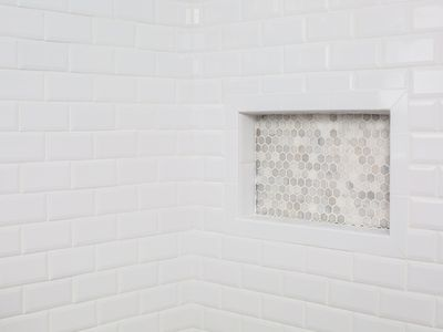 clean tile in a shower