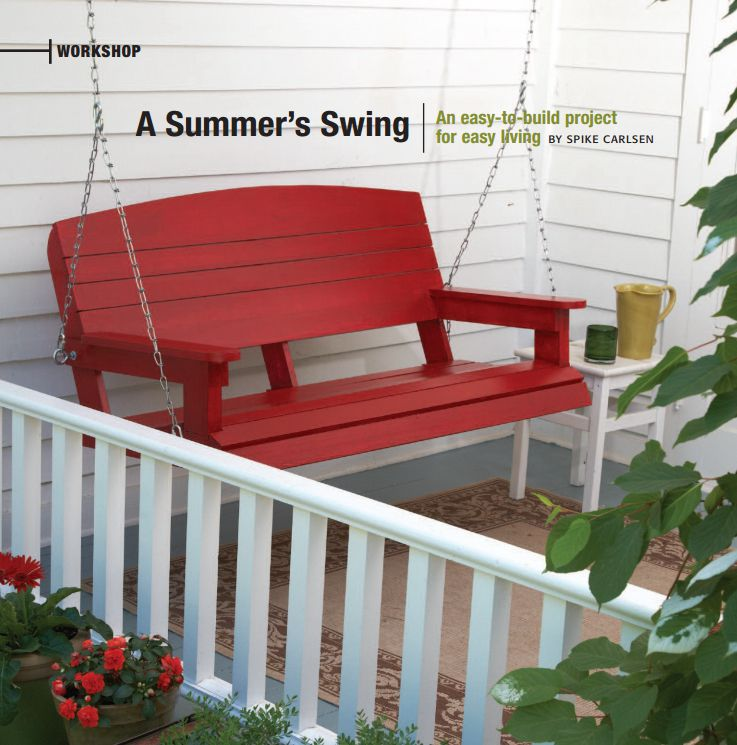 13 free porch swing plans to build at home solutioingenieria Image collections