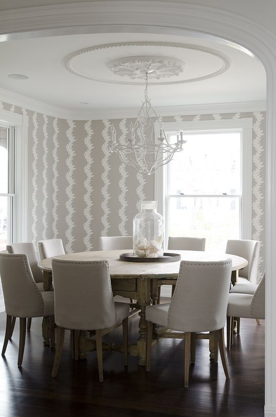 Marvelous Dining Room Wallpaper Ideas Custom Handmade Wallpaper In ...