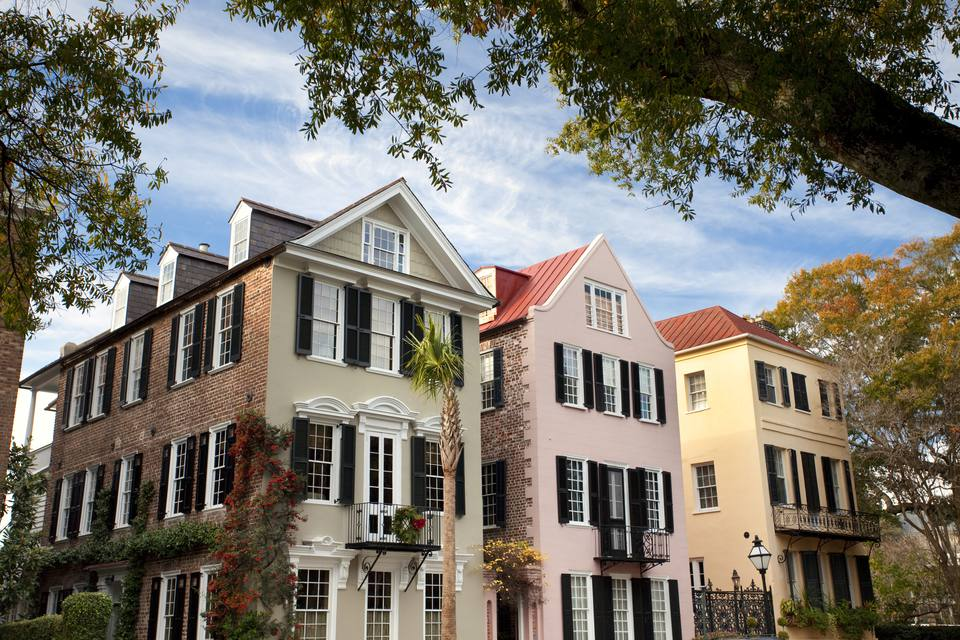 Charleston SC Rainbow Row