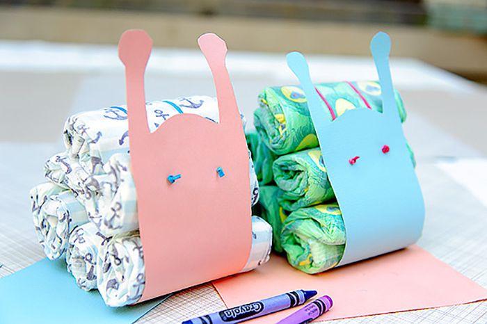 DIY Diaper Snail