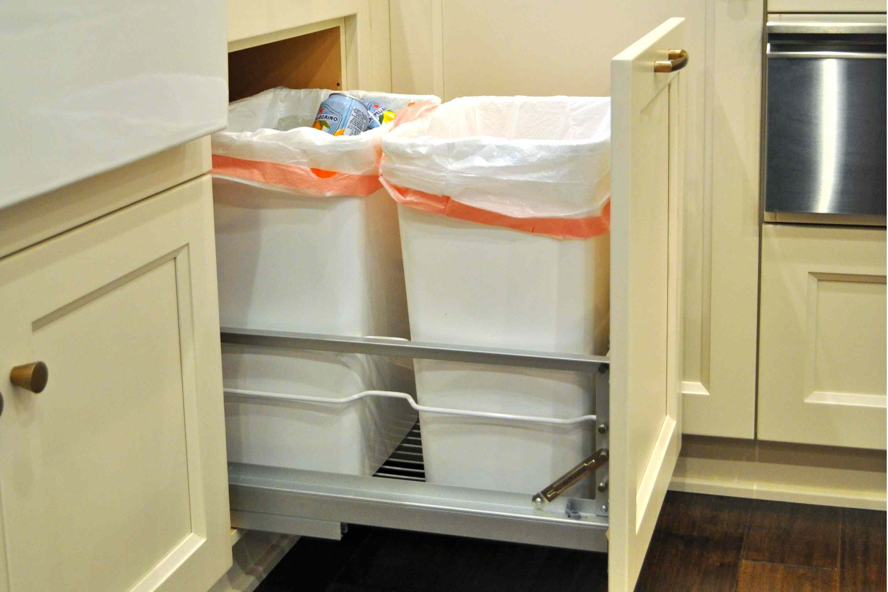 Double Trash Cabinet Pull Out