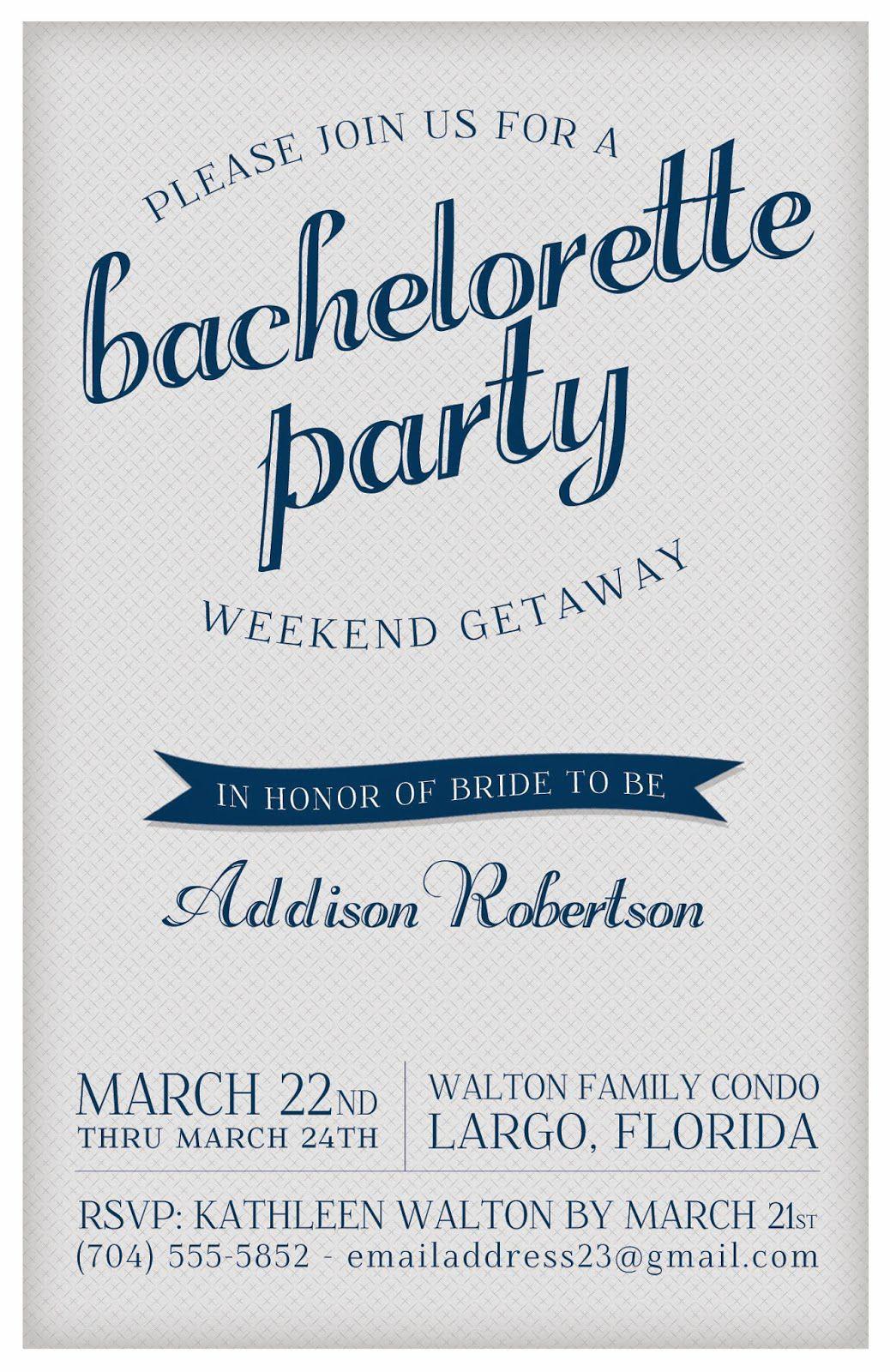 9 Free, Printable Bachelorette Party Invitations