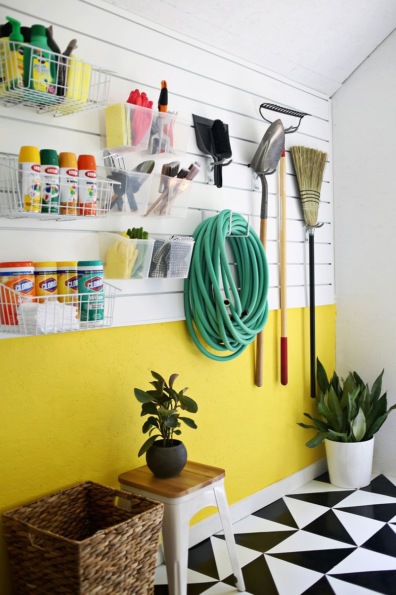 diy garage organization wall