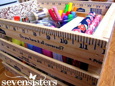 DIY wooden ruler crates
