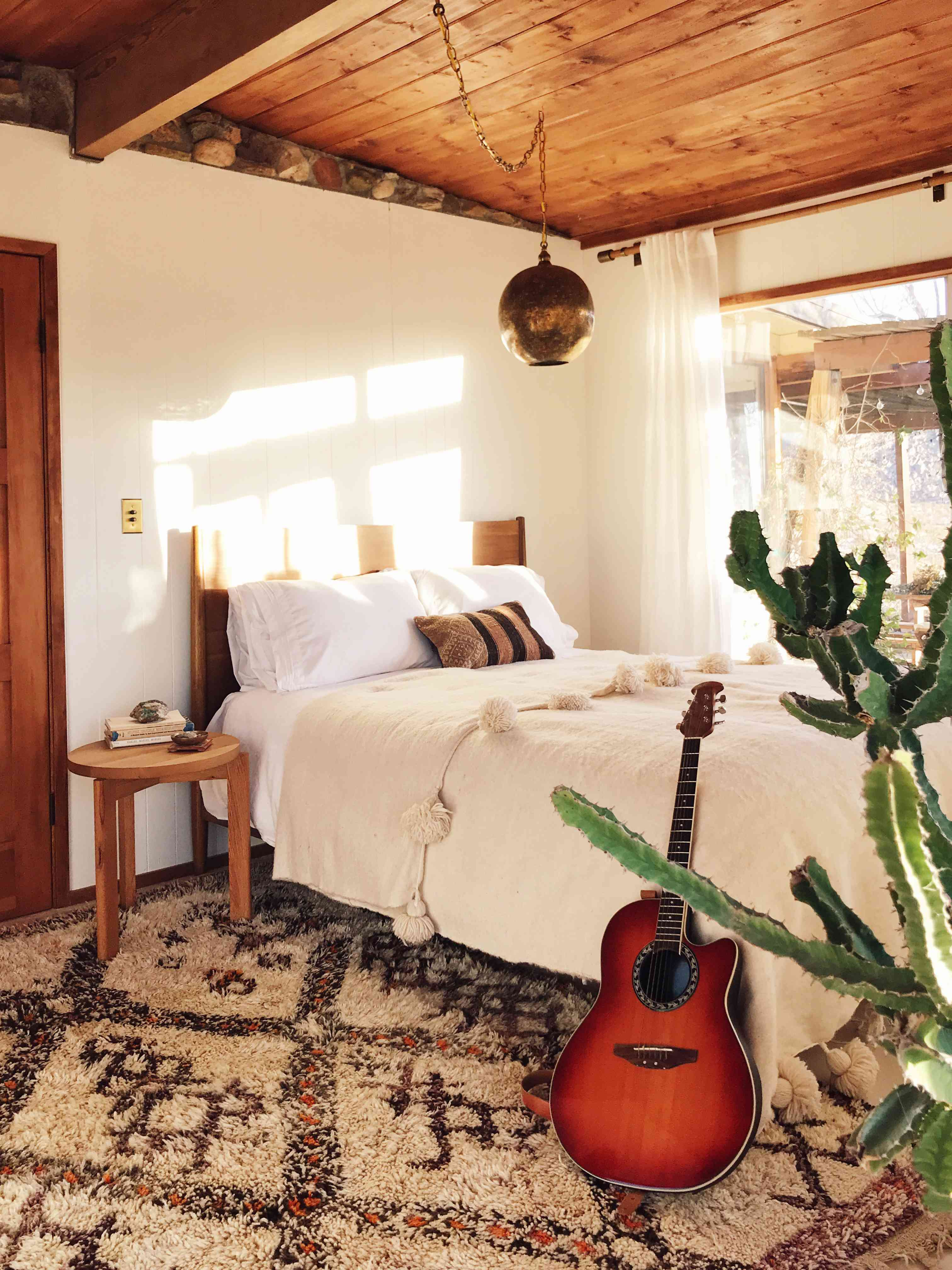 A bedroom in The Joshua Tree House, owned by Sara Combs