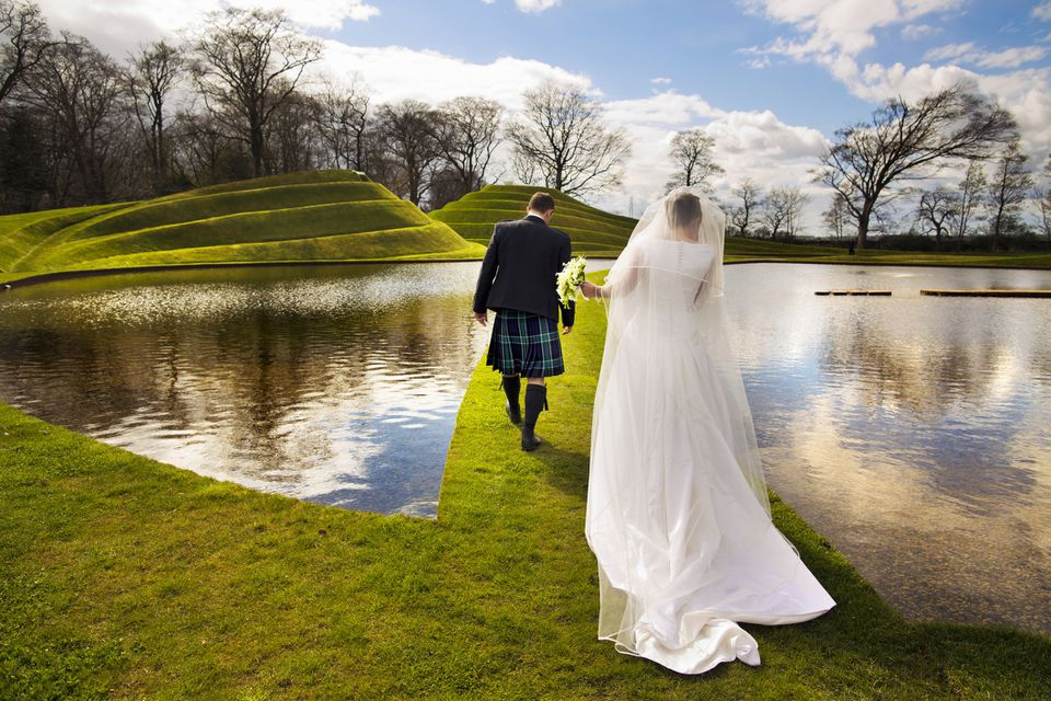 Newlyweds in Scotland