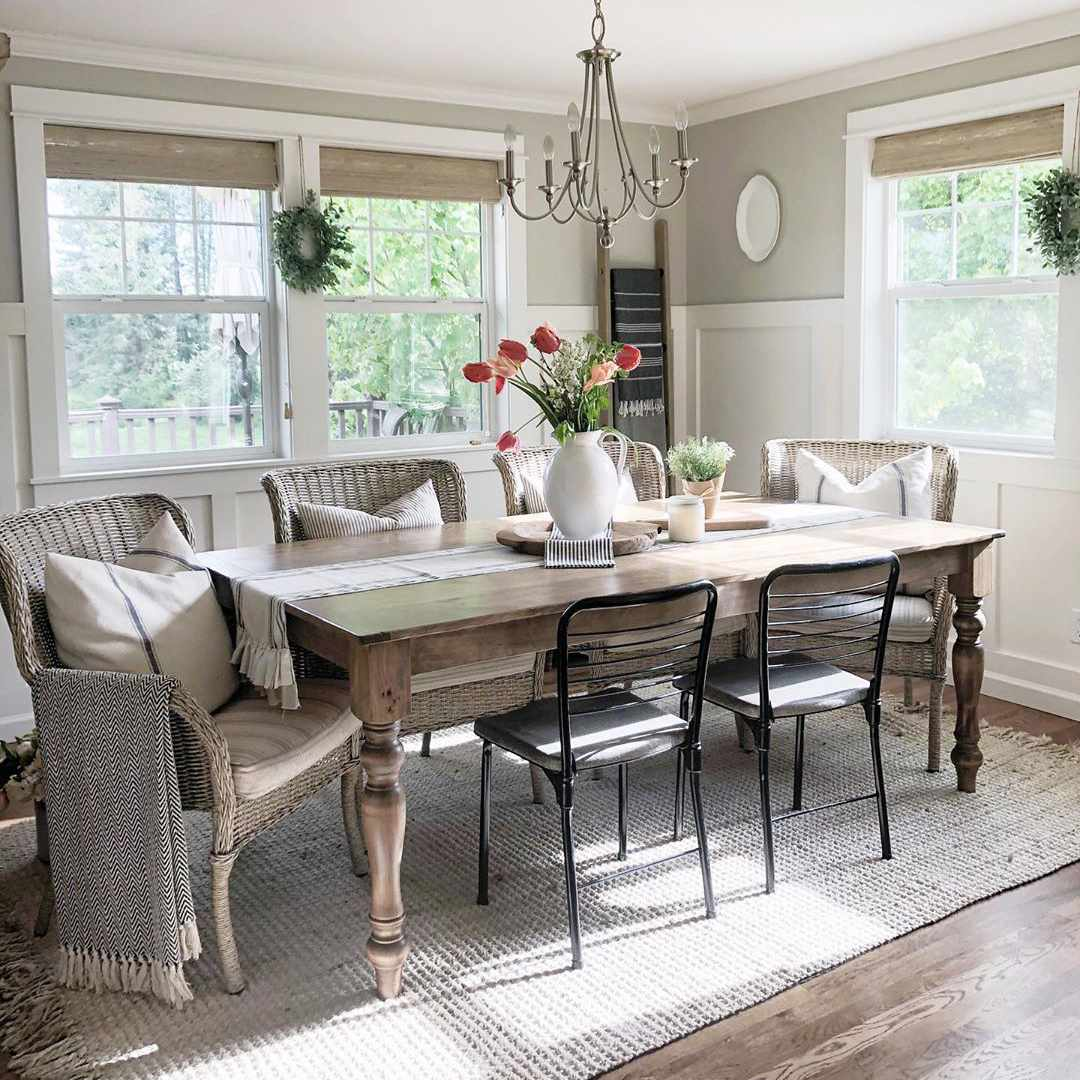 18 Gray Dining Room Design Ideas