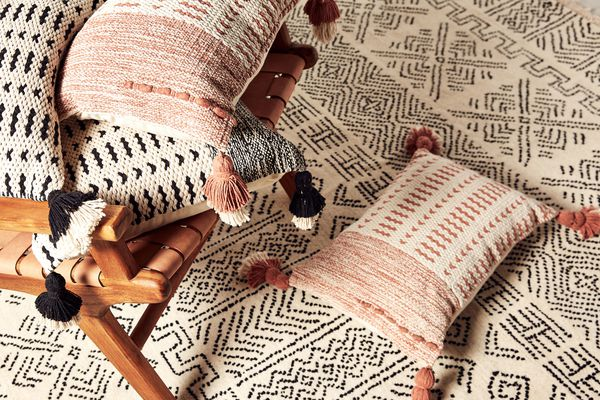 pillows and rug from Joanna Gaines for Anthropologie