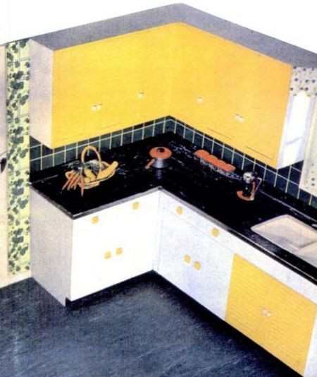 Fifties Kitchen Linoleum