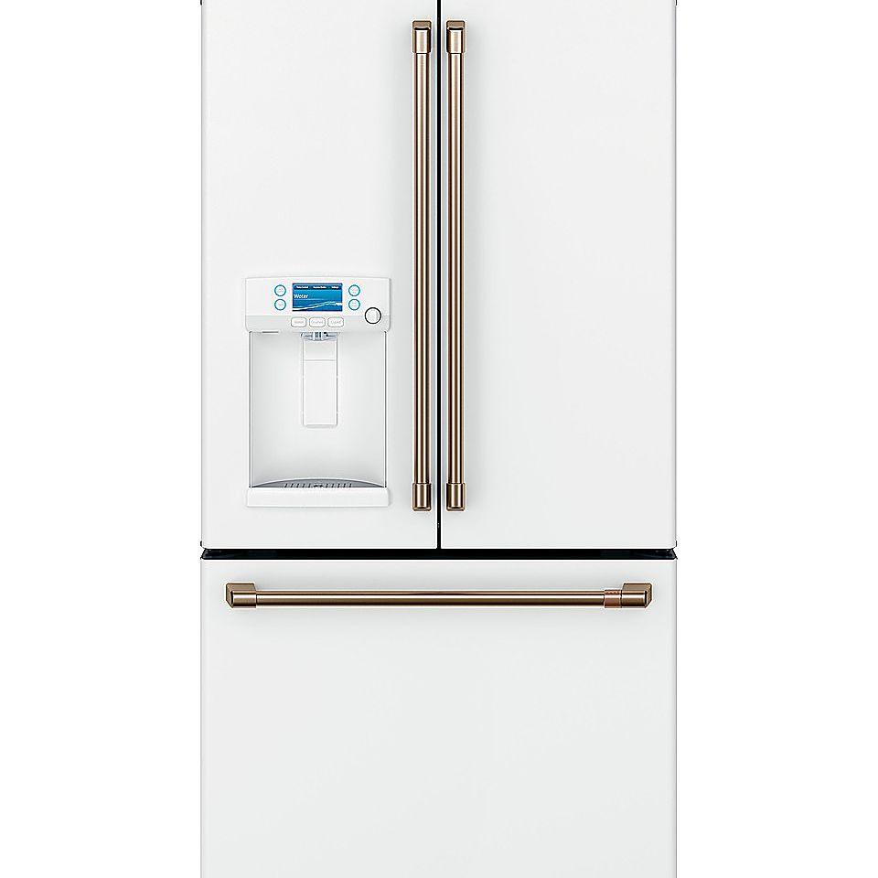 cafe-french-door-refrigerator-white-gold-hardware-dispenser