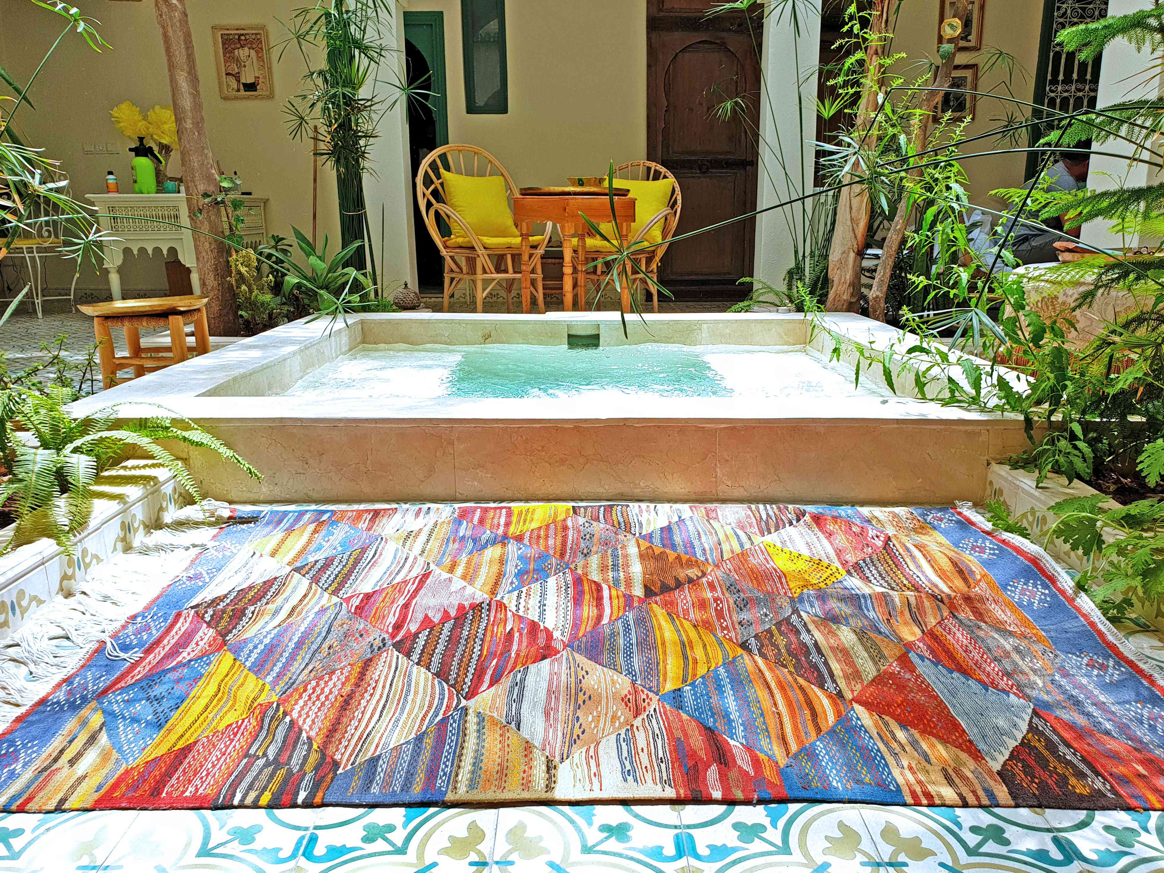 hot tub outdoors