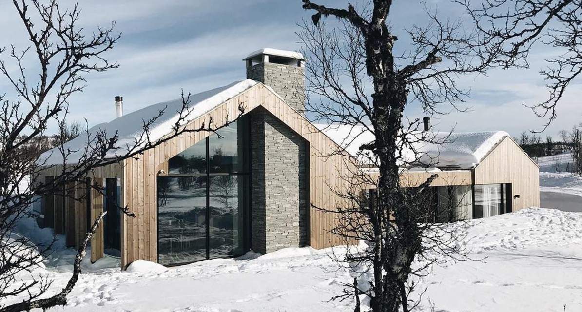 house with wood and glass siding