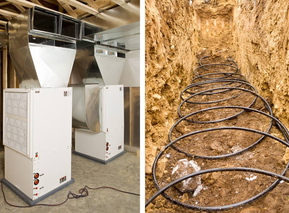 Geothermal heat pump and ground loops