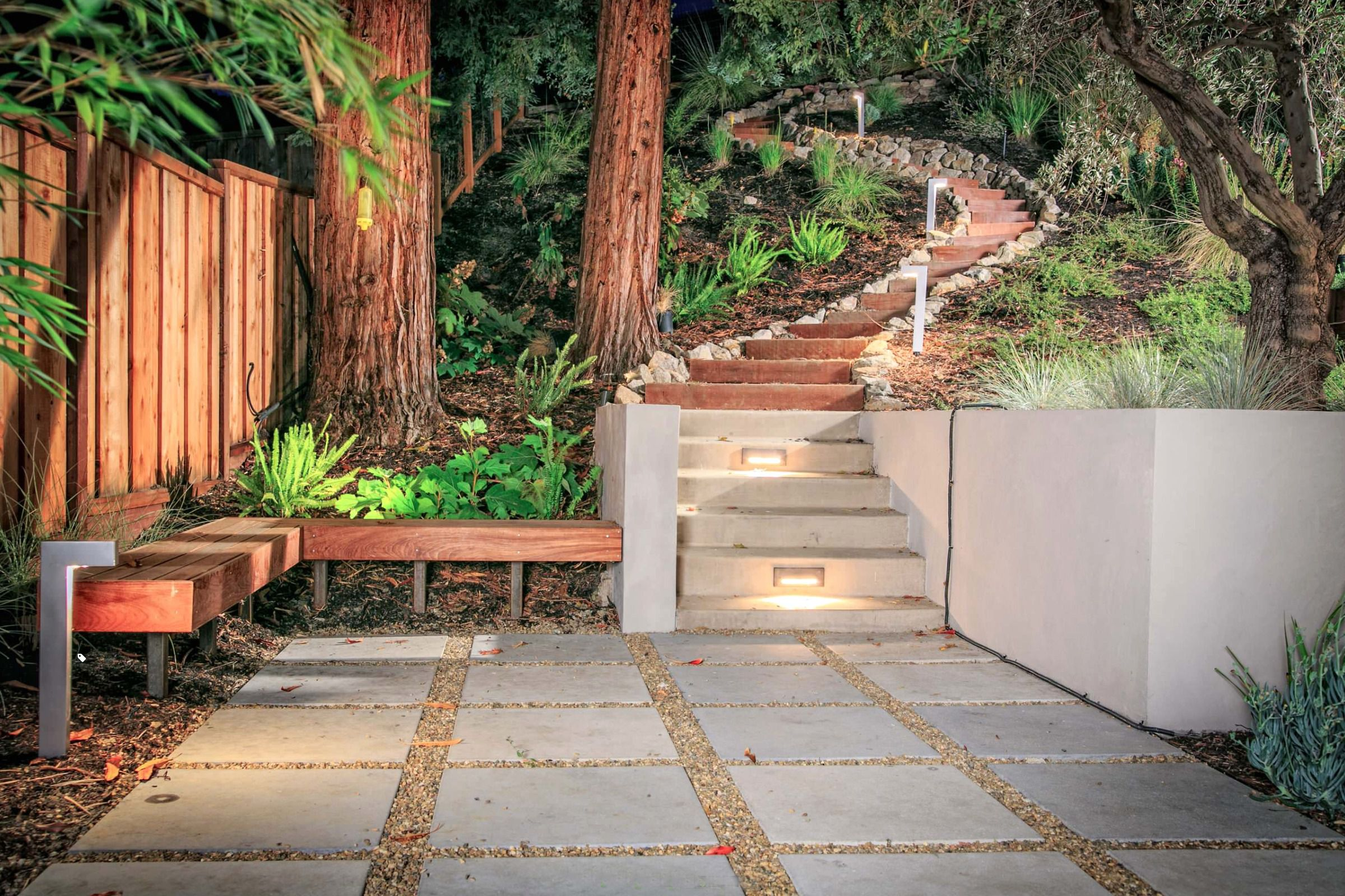 Patio pavers with gravel