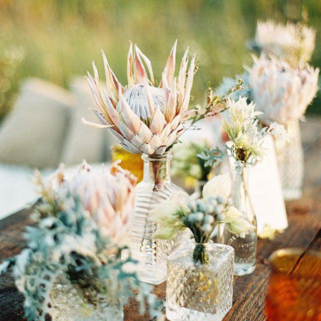 Bud Vase Fall Wedding Centerpiece