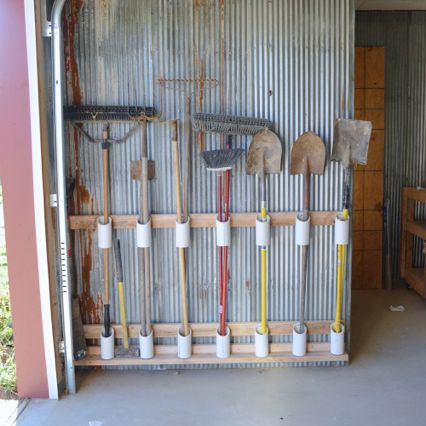 Use PVC Pipe to Store Garden Tools