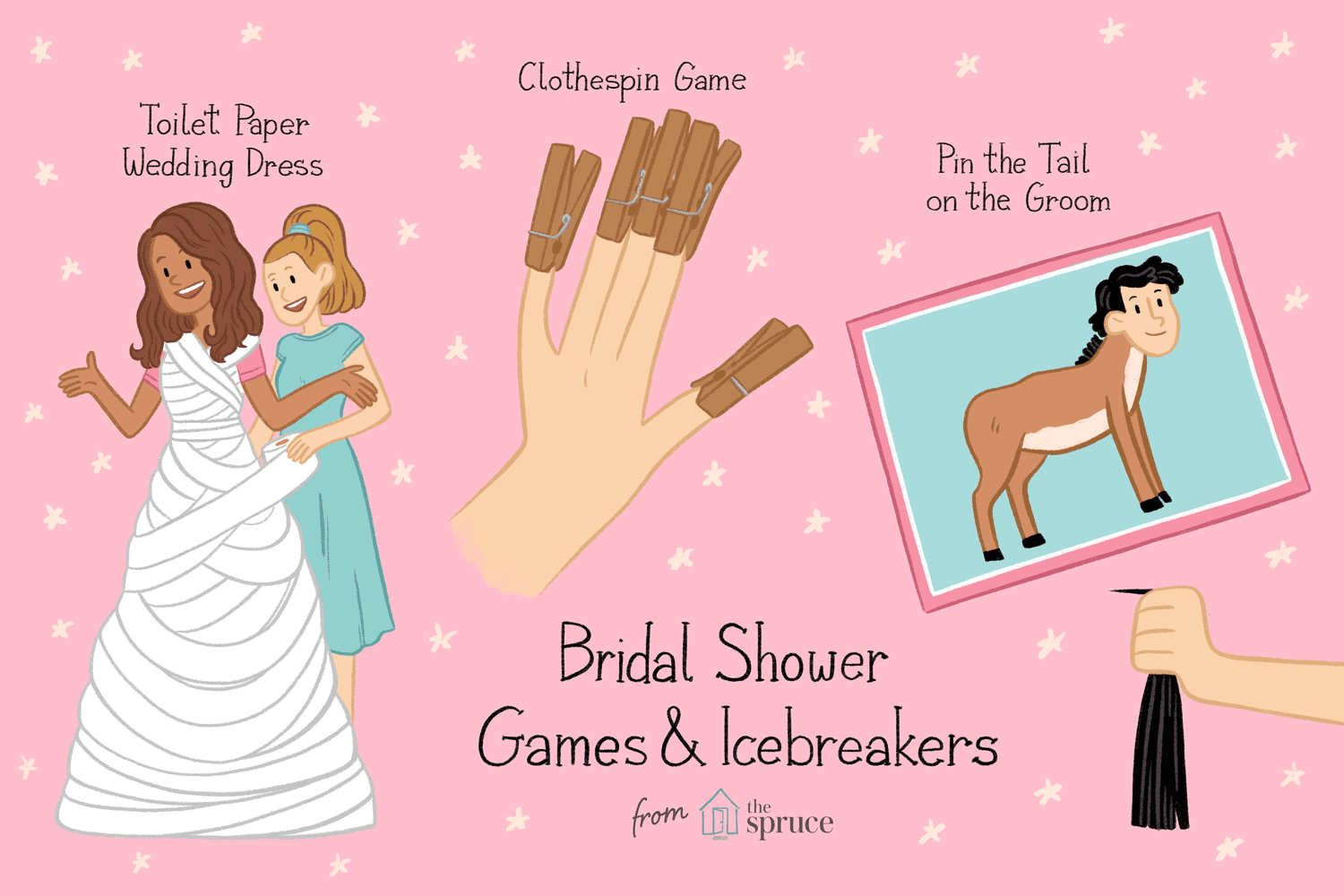illustration of bridal shower games