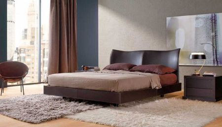 Contemporary Brown Bedroom