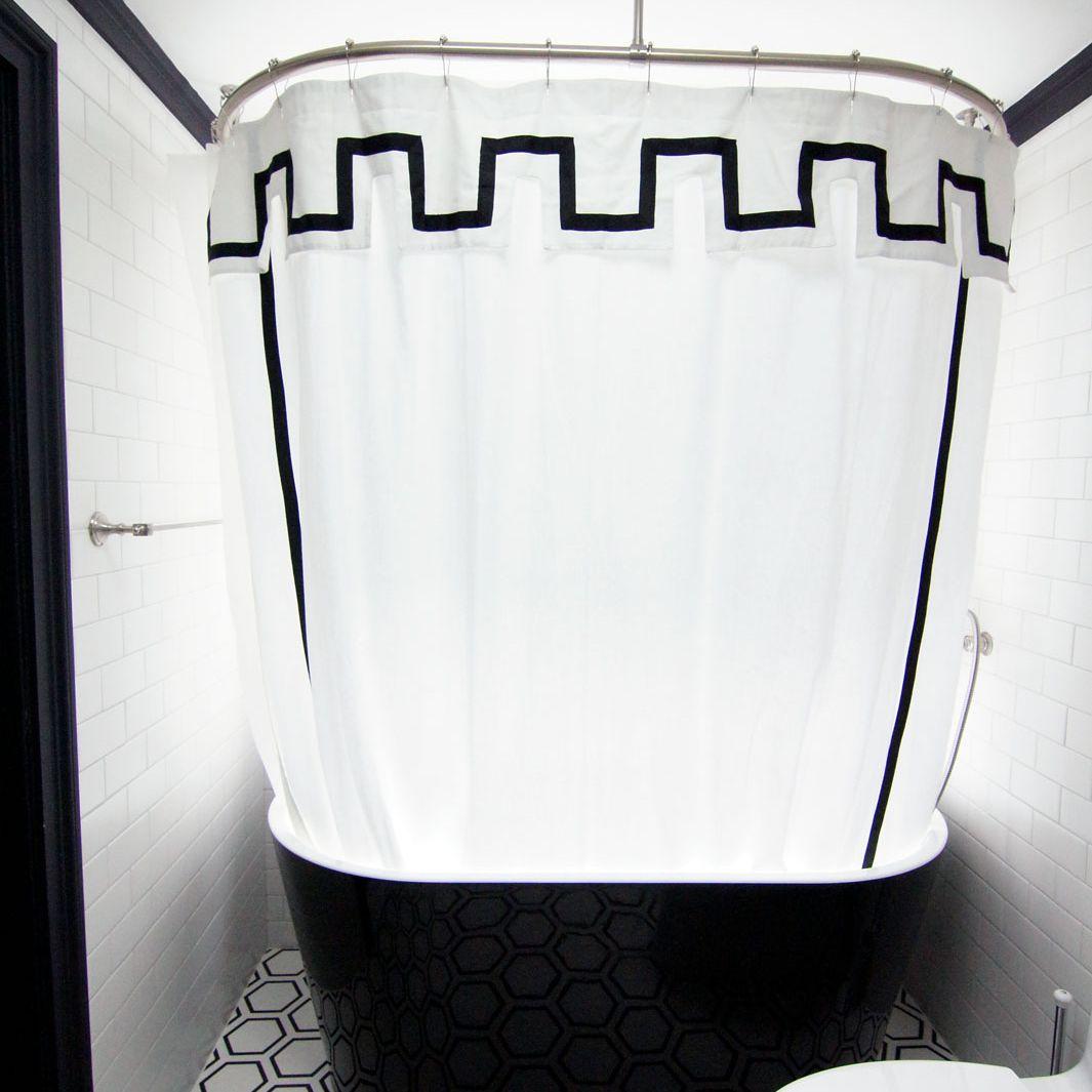 Black modern bathtub