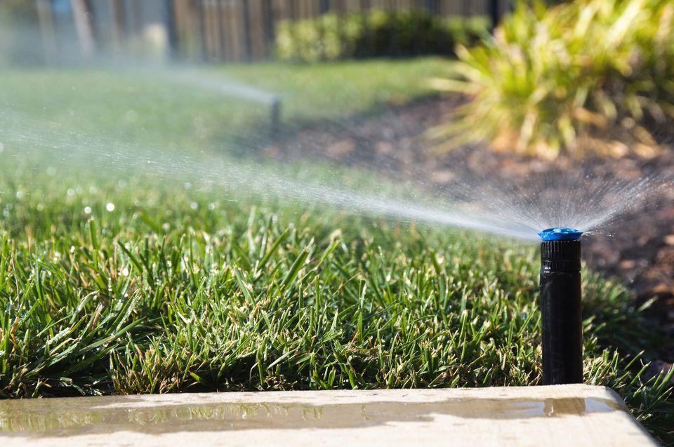 Active lawn sprinklers