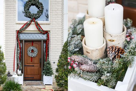 candles and drama christmas porch - Craftsman Christmas Classic