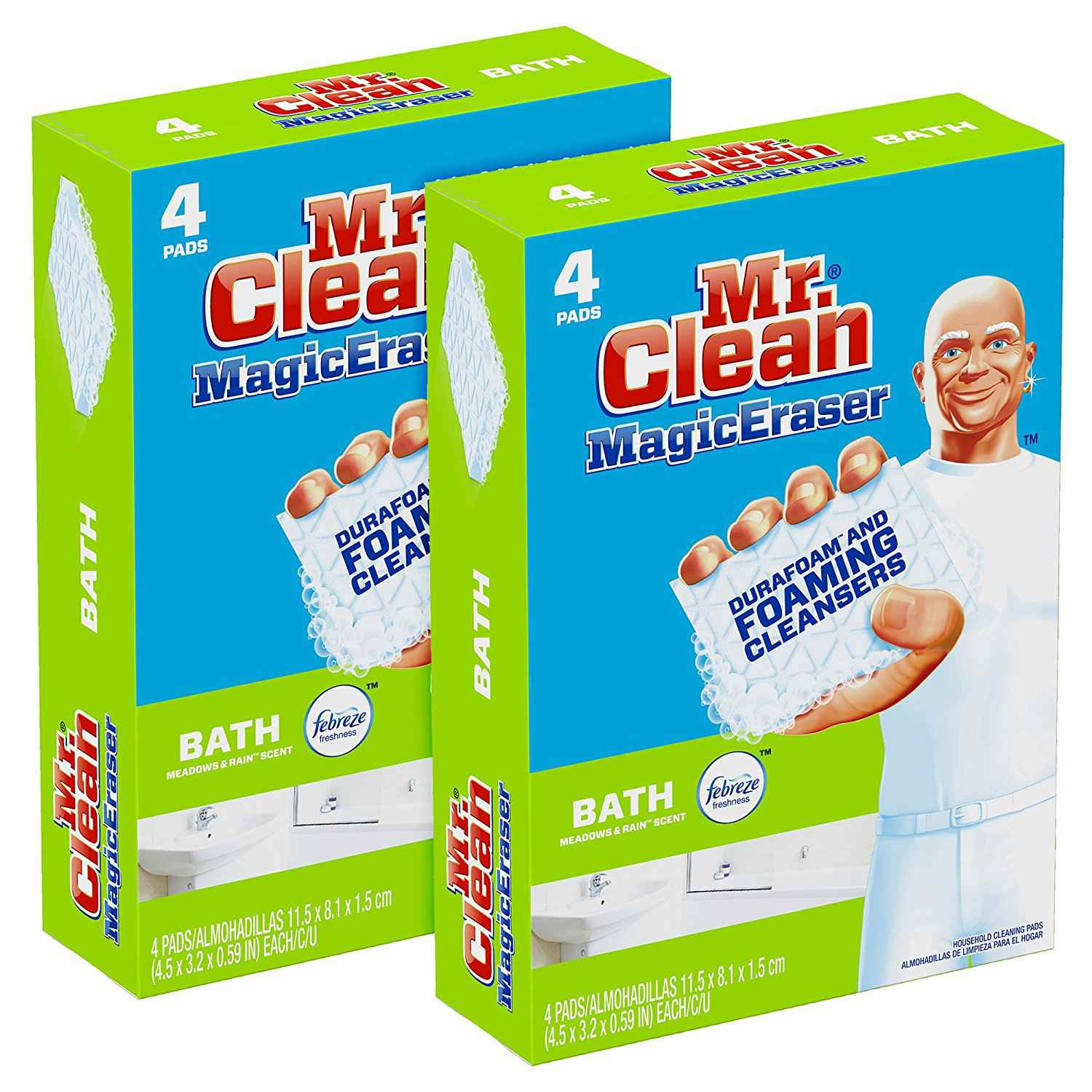 Mr. Clean Magic Eraser Bath, Cleaning Pads Durafoam