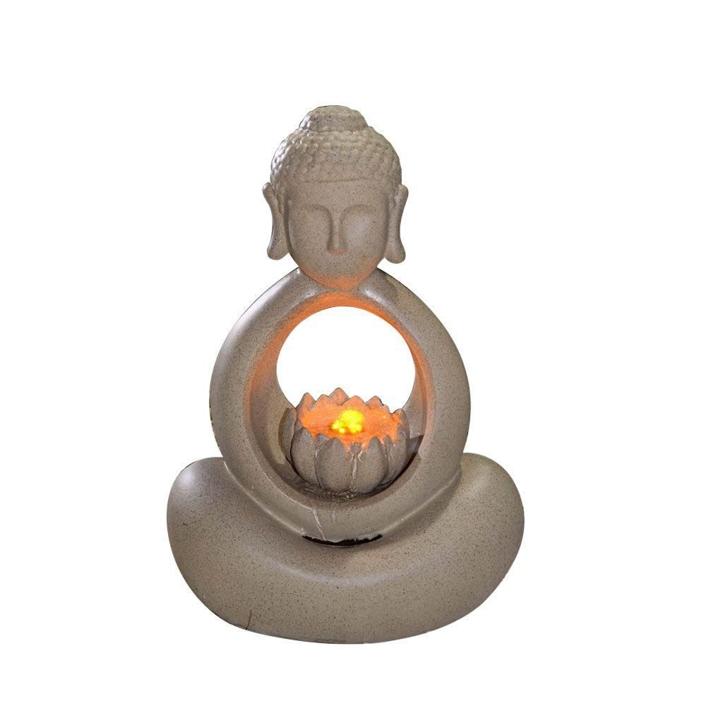 Jeco Buddha Water Fountain with LED Light