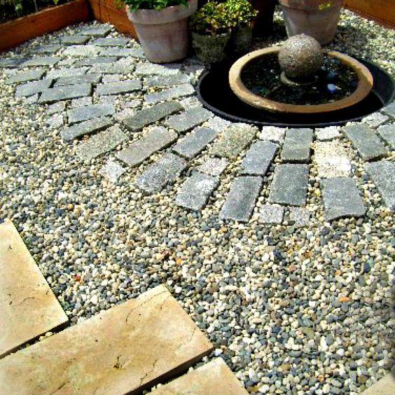 three patio materials