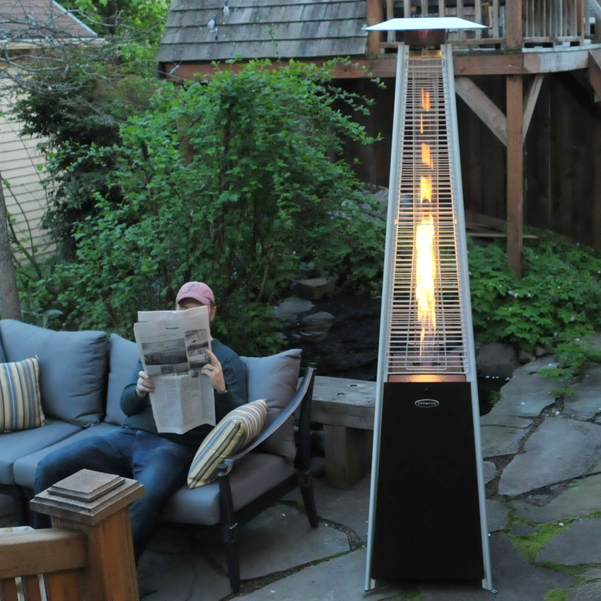 AZ Patio Heaters Tall Quartz Glass Tube Heater